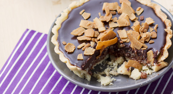 Genusssucht Kokos-Schokoladen-Tarte